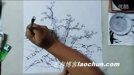 山水画技法视频 初级32