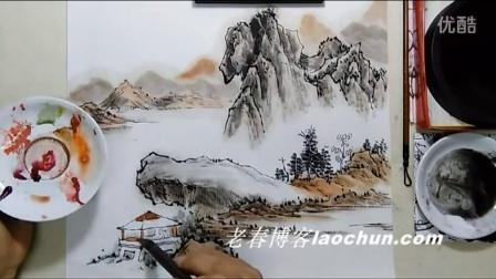 山水画技法视频 初级23