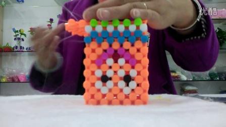 四方形笔筒串珠步骤图解