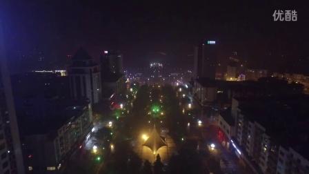 广安夜景航拍