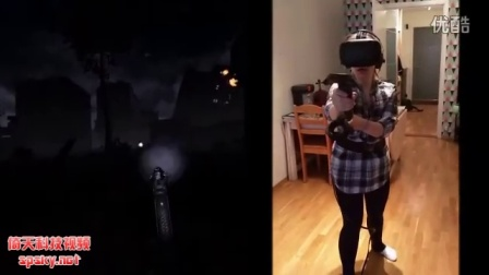 在VR中玩恐怖游戏有多吓人?妹子差点吓哭