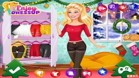 芭比公主动画片大全中文版 芭比之梦想豪宅第7季 芭比圣诞惊喜小游戏