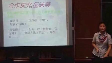 人教版七年级语文下册《观舞记》教学视频,黄丽,四川省初中语文优质课评选