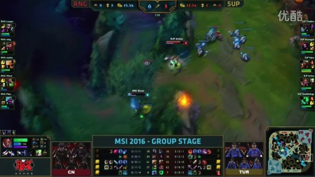 MSI季中赛第二轮:  RNG vs SUP