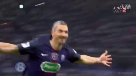 法国杯-伊布两射一传天使助攻 巴黎4-2马赛捧杯