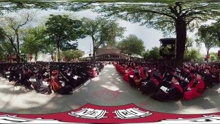在哈佛的第三百六十五届毕业典礼|哈佛360°视频体验的步骤