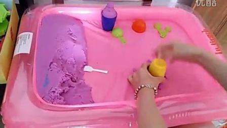 用太空沙做冰淇淋