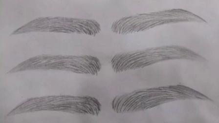 标准眉画法 纸上眉毛的画法 眉毛的画法 标准眉毛的铅笔法图图片