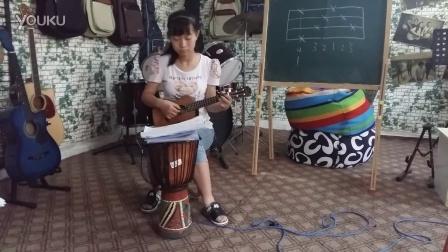 欢乐颂 尤克里里指弹吉他谱 图片谱,尤克里里,独奏 Ludwig van