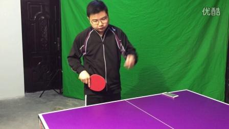 《乒乓网私人教练》左手握拍用正手发急下旋球如何处理?乒乓球教学视频