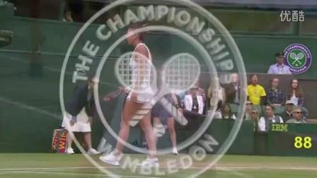 2016年温网女单四分之一决赛 科贝尔VS哈勒普 自制HL