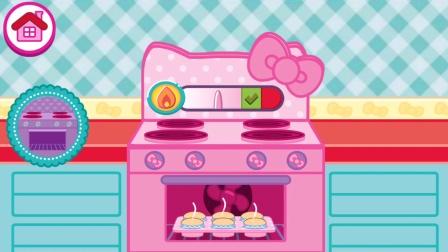 凯蒂猫 HelloKitty 便当游戏 制作纸杯蛋糕 153