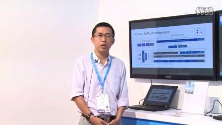 2016上海MWC:思科客户解决方案架构师王伯剑演示思科 NFVI 网络虚拟化基础架构平台