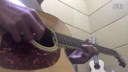 汪峰《亲爱的 今夜你在哪里》间奏 木吉他solo
