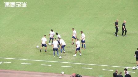 国际冠军杯上海站多特vs曼联双方球员赛前热身
