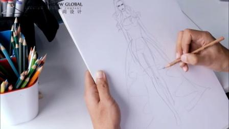 服裝設計手繪教程 4裙子廓形素描
