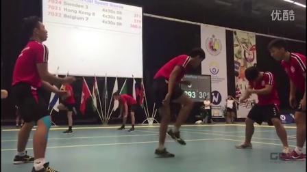 香港跳绳破世界记录,速度之快好像无影脚