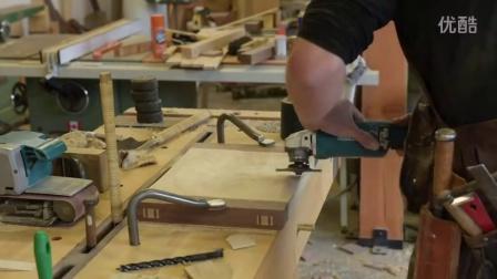 手工的美!老外打造不用铁定的木椅
