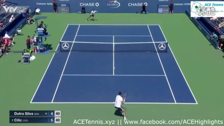 2016 ATP 美网 R1 西里奇vs 希尔瓦 HL