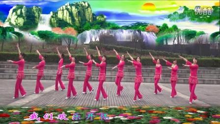 红乔开心广场舞红火火唱起来编舞:心随  制作:蝴蝶兰