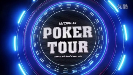 AE模板-3D炫酷发光标志动画扑克娱乐场栏目包装Logo展示宣传 Broadcast Logo Animation