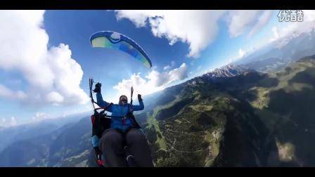 滑翔伞特技3D拍摄视角