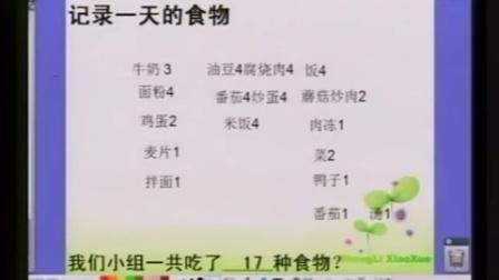 第六届电子白板大赛《一天的食物》(教科版科学四年级,杭州市胜利小学:吴国忠)