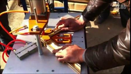 拼角机厂家 相框合角机规格 裱框十字绣打钉机
