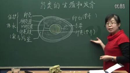 初中生物人教版八年级《鸟类的生殖和发育02》名师微型课  北京谭荣誉