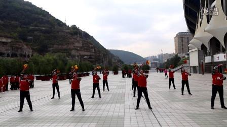 延川县队在2016年延安市中老年人健身球(操)展示赛上表演的第十套健身球(操)(预赛)