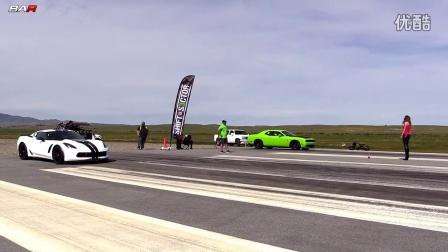 Corvette Z06 vs Hellcat - 1_2 Mile Drag Race!