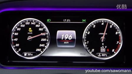 2016奔驰Mercedes-Benz S 500 455马力  0-200 km-h加速