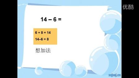 一年级数学下册20以内退位减法_十几减六Flash讲解课件