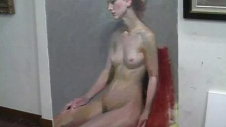 女人体油画作品欣赏欧美写实油画女人体
