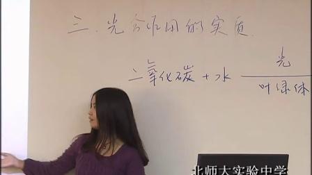 《光合作用》示范课(北师大版生物七上,北师大附中:于波)