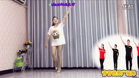青青世界广场舞 励志歌曲《梦想的舞台》附背面 原创王广成_高清