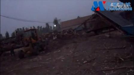 树墩树根树桩树木疙瘩破碎机视频