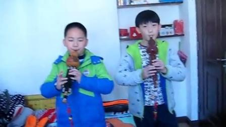 六安葫芦丝小苹果(金旭和韩明尚,指导老师:潘金梅QQ1459472033)