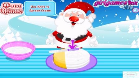 做蛋糕切蛋糕玩具蛋糕的做法大全圣诞老人蛋糕视频