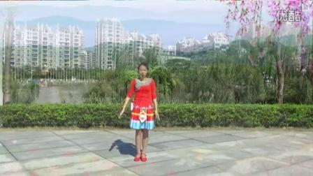 官涌舞飞飞广场舞 丽江情 正反面演示 动作分解 原创广场舞教学视频