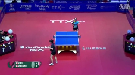 2016女子世界杯 伊藤美诚 VS 平野美宇(1_4)