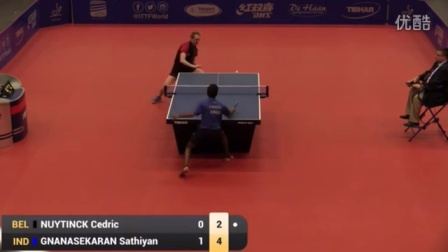 2016比利时公开赛男单决赛 Cedric Nuytinck vs Sathiyan Gnanasekaran
