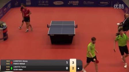 2016比利时公开赛男双决赛 Alexey_Liventsov Mikhail_Paikov vs Adam_Szudi Tamas_Lakatos