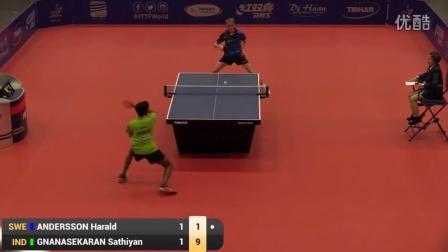 2016比利时公开赛半决赛 Harald Andersson vs Sathiyan Gnanasekaran