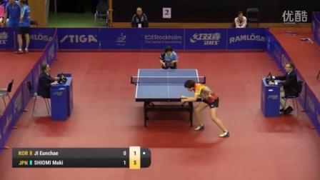 2016瑞典公开赛 Ji_Eunchae vs塩见真希 (U21-1_4)