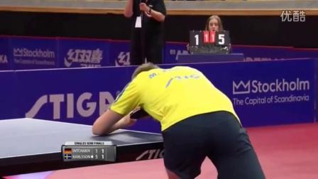 2016瑞典公开赛男单半决赛 奥恰洛夫 VS M·卡尔松
