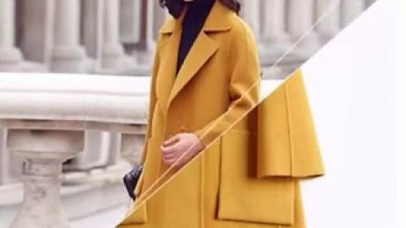 039-冬季中長款羊毛呢子大衣雙面呢