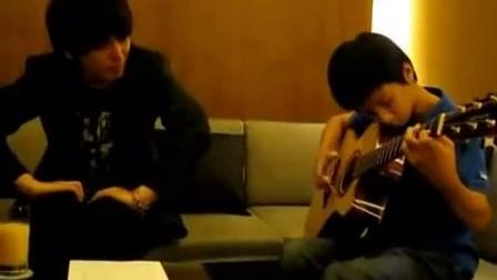 琴歌指弹月亮之上_吉他弹唱教程时代吉他教炫舞吉他表白步奏图片