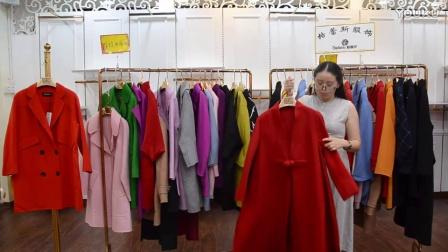 唯玖女裝雙面呢大衣,新款2017毛呢大衣外套,格蕾斯呢子大衣批發