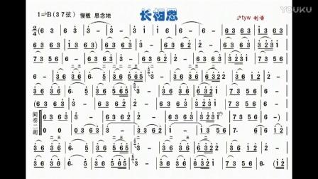 二胡指法技巧训练【长相思】朱昌耀版伴奏bb调-dbyy图片